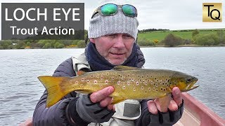 Fly Fishing for Trout in Scotland - Loch Eye: Olive Hatch