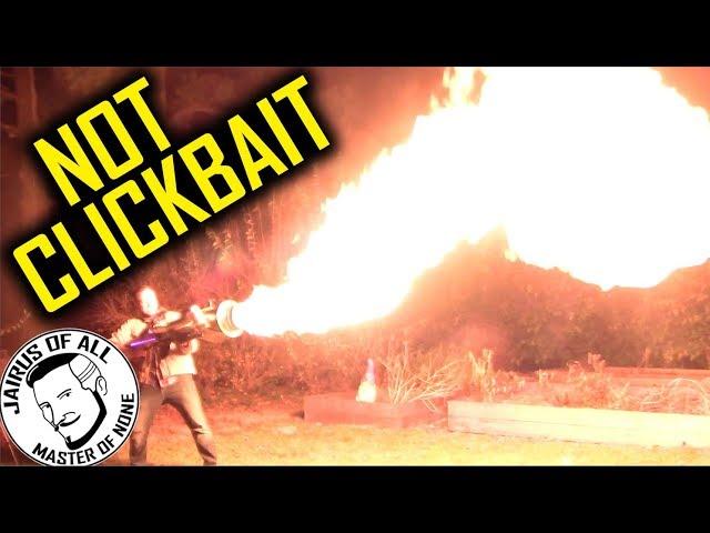Шотландский изобретатель собрал огромный реактивный огнемет из подручных вещей