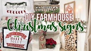 6 EASY CHRISTMAS SIGNS DIY| Episode 3
