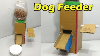 How To Make Dog Feeder at Home | Dog Food Dispenser from Cardboard