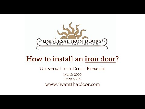 How to install an iron door (10 Minutes Video)