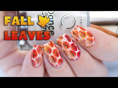 EASY FALL NAIL ART 2017 - Multi Color Stamping Fall Leaves