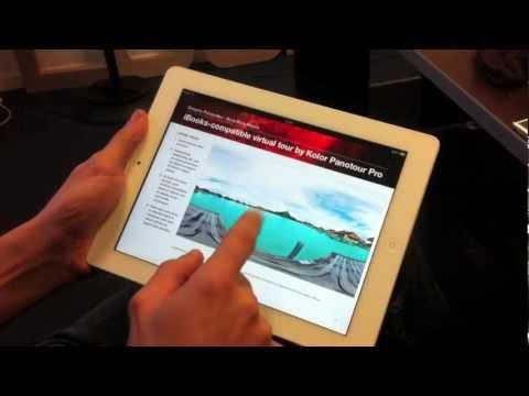iBooks & Panotour Pro: displaying 360° virtual tours into a digital book
