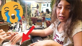 Getting My Nails Done At The WORST RATED Nail Salon In My City AGAIN! (they cut her finger)