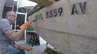 How to: Remove Paint from Boat Hull