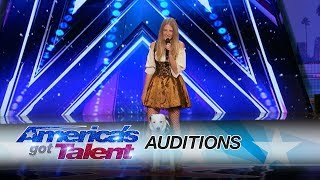 Sara Carson & Hero: Dancing Dog Brings Simon To Beg For Yes Votes - America's Got Talent 2017