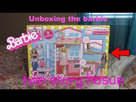 UNBOXING THE BARBIE TWO STORY HOUSE !!!!!