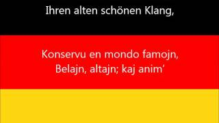 The Anthem of Germany - Esperanto - Deutschlandlied (lyrics)