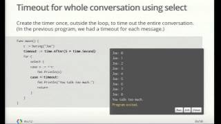 Google IO 2012   Go Concurrency Patterns