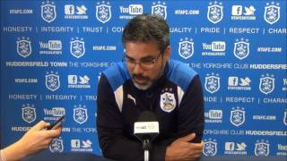 PRESS CONFERENCE David Wagner previewed Towns match against Wolverhampton Wander