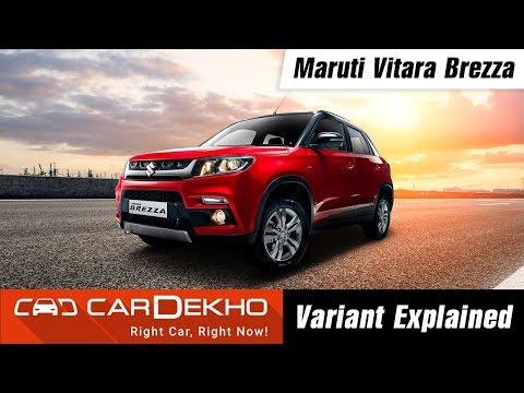 Maruti Vitara Brezza - Variants Explained