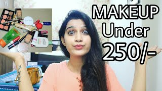 Make-Up Beginners Kit Under 250/- | Affordable Makeup products In India | College Edition - Download this Video in MP3, M4A, WEBM, MP4, 3GP