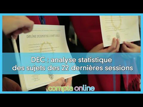 Epreuve 2 du DEC : analyse statistique des sujets parus depuis mai 2009