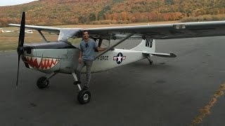 L-19 Birddog Aerotow Wurtsboro Airport