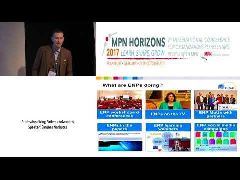 Professionalizing Patients Advocates - MPN Horizons 2017