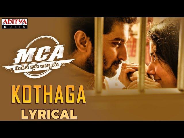 Kothaga Audio Song Download | MCA Movie Audio Songs | Nani, Sai Pallavi