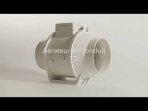Ventilateur de conduit silencieux, 390/560 m3/h, 3 V, tempo réglable, D 150 mm