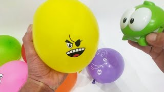 АМ НЯМ - Развивающее видео Учим цвета Лопаем воздушные Шарики с водой Поем песенку На русском