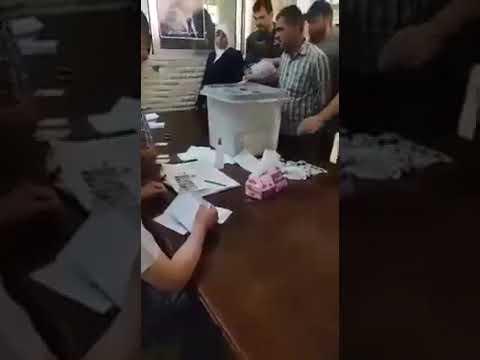 بالفيديو .. عمليات تزوير الأصوات بالانتخابات لصالح بشار الأسد