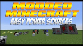 Modded Minecraft - Best Starter Power Sources! (Updated for 1.7.10!)