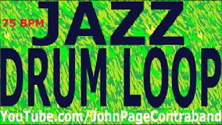 Jazz Drum Loop Jam Track Shuffle 75 bpm DRUMS ONLY