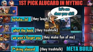 1st pick alucard = they laugh and trashtalk me | ALUCARD NEW META BUILD | MOBILE LEGENDS