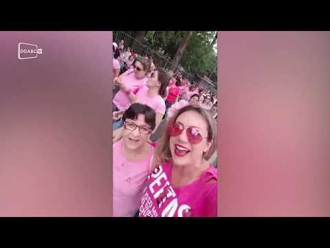 Ao vivo: equipe do Diário participa da caminha de Outubro Rosa em Santo André