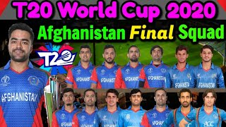 T20 World Cup 2020 Afghanistan Team 15 Members Squad | Afghanistan Team For T20 World Cup 2020 |
