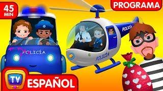 ChuChu TV Huevos Sorpresas De Policías – Episodio 04 - La Persecución En Helicóptero (Colección)