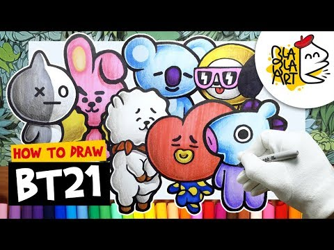Drawing Bt21 Koya How To Draw Easy Step By Step Drawing