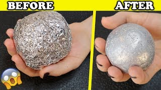 How To Make POLISHED ALUMINIUM FOIL BALL ! New Japanese Trend ! Very Satisfying - Video Youtube