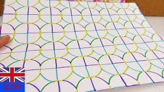 Tutorial: Draw your own colored patterned paper with Felt tip pens!