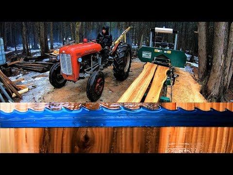 Beautiful Wood Grain from a Diseased Elm Tree / Log Cabin Update- Ep 11.9
