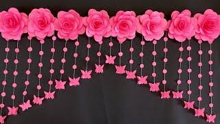 PAPER ROSE FLOWERS DOOR HANGING | PAPER FLOWERS DOOR HANGING TORAN