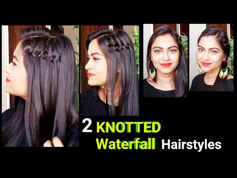 Knotted Waterfall Hairstyleseveryday Easy Hairstyles For Medium