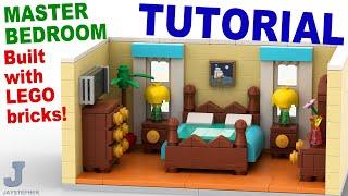 LEGO Master Bedroom DIY How To Build Tutorial