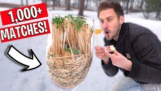 WE BOUGHT ALL THE MATCHES FROM WALMART!