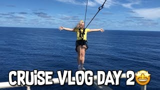 CRUISE VLOG DAY 2 | Walk The Plank, Tumbling & Flying Fox