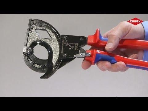 KNIPEX Kabelschneider für stahlarmierte Kabel (SWA-Kabel)