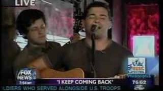 Josh Gracin - I Keep Coming Back Fox & Friends 6-10-07