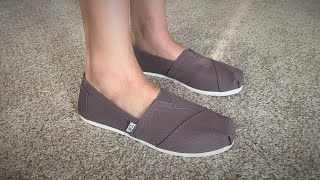 TOMS Ash Canvas Women's Classic Shoes Unboxing And Review
