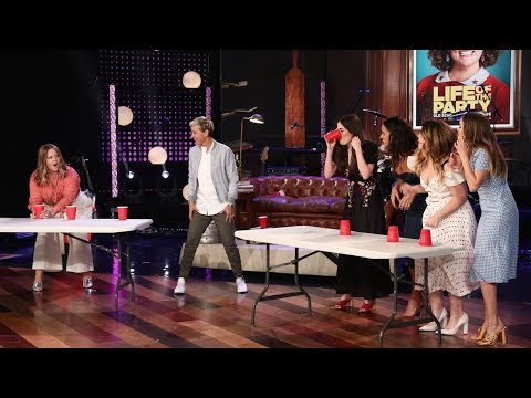 'Life of the Party' Cast Plays Flip Cup