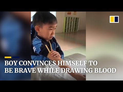 Cute Boy Convinces Himself To Be Brave For Blood Test In China Mp3