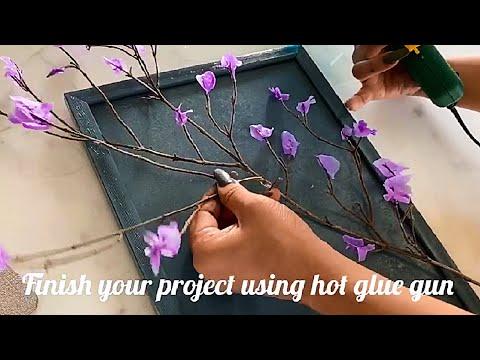 , title : 'HOW TO MAKE EASY WAX FLOWER | 3D wall art | Easy DIY | Photo frame #waxflower #easydiy #2minsart