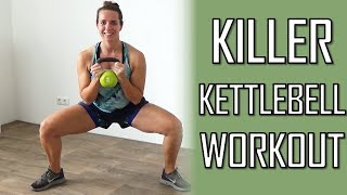 10 Minute Killer Kettlebell Workout – Muscle Toning Kettlebell exercises At Home by FitnessType