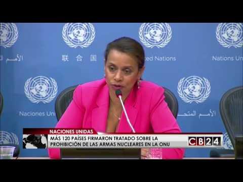 Más de 120 países firmaron tratado sobre la prohibición de armas nucleares en la ONU