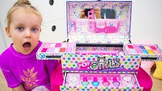 Gaby Pretend Play with Kids Make Up Toys