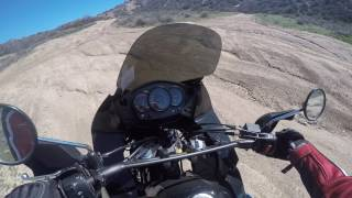KLR first ride with Alex in Gorman, Hungry Valley
