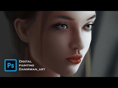 digital painting speeding painting using adobe photoshop by danirwan