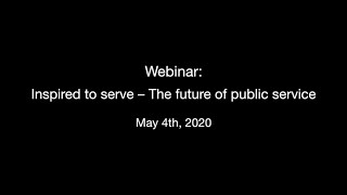 Inspired to serve – The future of public service